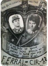 Tarjeta de recuerdo del servicio militar de GA